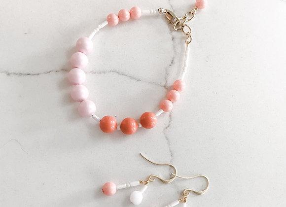 PINK CORAL Beaded Earrings