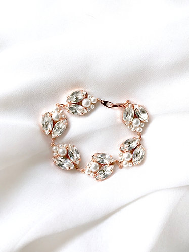 ISABELLE: Pearl and Rhinestone Bracelet