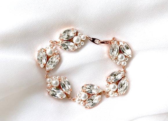 ISABELLE: Pearl and Rhinestone Bracelet