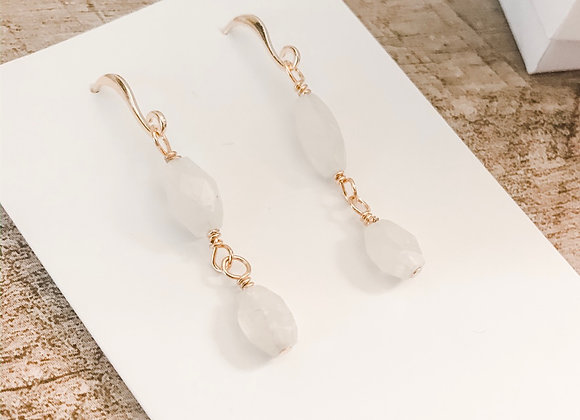 MOONSTONE DANGLES (gold plated)