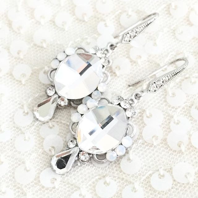 Rhinestone Opal Earrings
