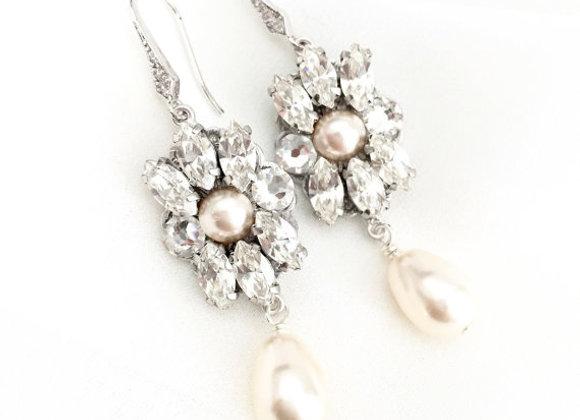EZRA: Art Deco Swarovski Embellished Earrings