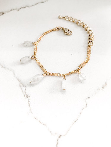 MOONSTONE DANGLE Bracelet