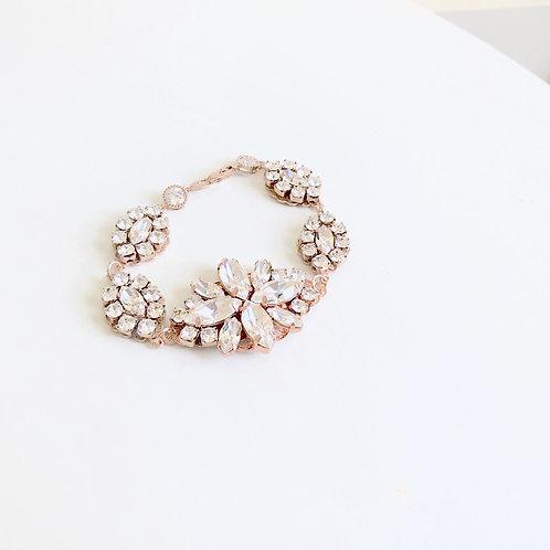 PENELOPE: Rose Gold Statement Swarovski Bracelet