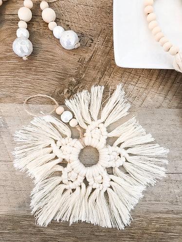 MACRAME SNOWFLAKE Ornament