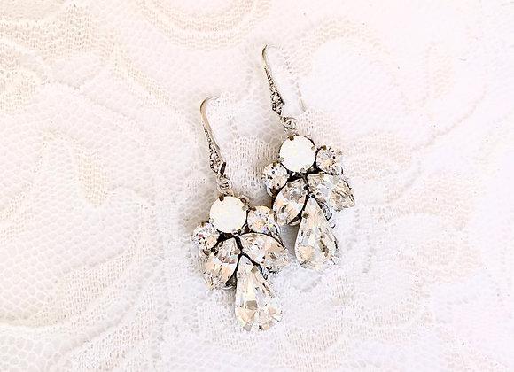 ISOBEL: Opal Bridal Earrings