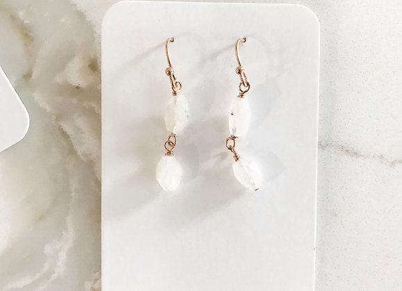 MOONSTONE Dangles (rose gold)