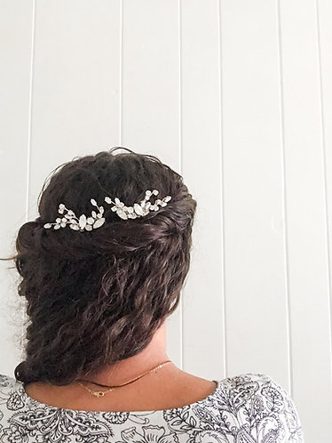WHITNEY: Opal & Crystal Bridal Comb Set