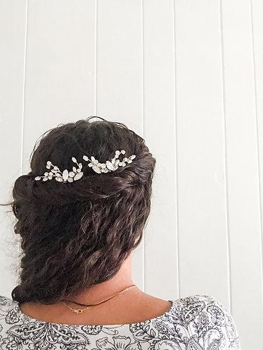 WHITNEY: Opal & Crystal Bridal Comb Set