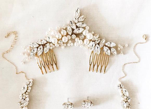 NOELLE: Swarovski Rhinestone Bridal Hair Adornment