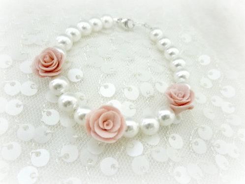Child's Size Sweet Floral Flower Girl Bracelet