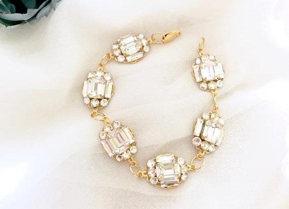 LEXA: Art Deco Rhinestone Wedding Bracelet