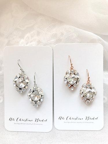 CAMMIE: Swarovski Crystal Jeweled Earrings