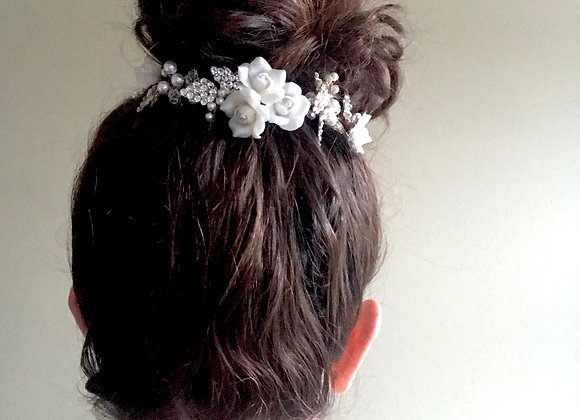 LYDIA: Glitzy Floral Hair Adornment