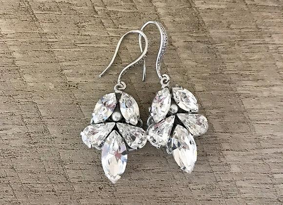 Swarovski Spear Bridal Earrings, Adalade