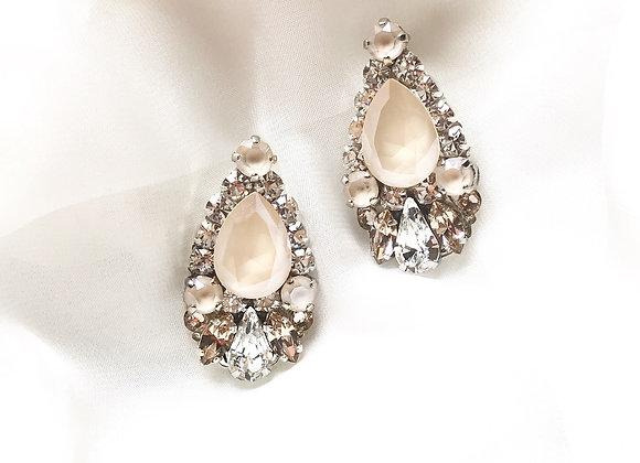HARMONY: Champagne Jeweled Earrings