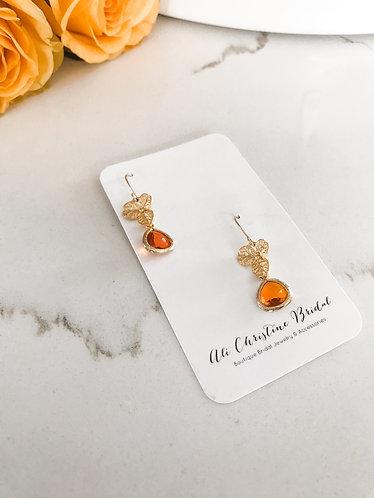 ORANGE BLOSSOM Earrings in gold