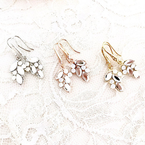 MARILYN: Swarovski Leaf Earrings