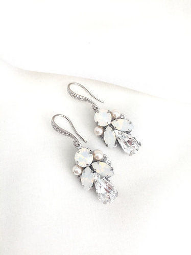 MARLA Swarovski Rhinestone and Pearl Earrings