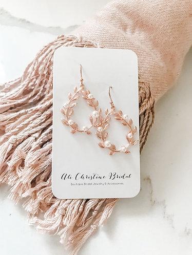 VALERIE: Pearl Ivy Earrings