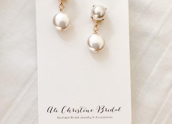 ADELE: Bold Pearl Statement Earrings