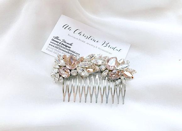 GEMMA: Blush Jeweled Bridal Comb