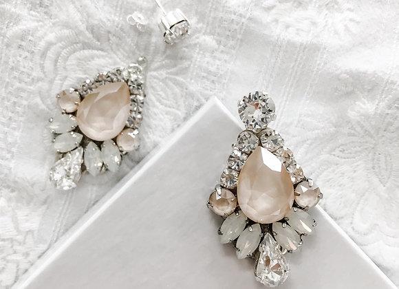 BRIELLE: 2 in 1 Ivory & Opal Bridal Earrings