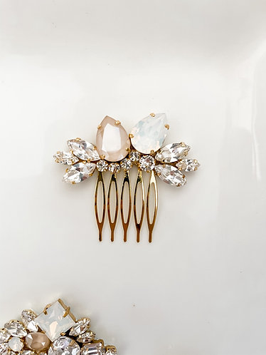 ARIA: Ivory and Opal Pear Bridal Comb
