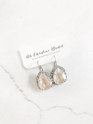 RYANN Swarovski Pear Drop Earrings