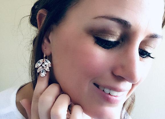 PENELOPE: Rose Gold Swarovski Earrings