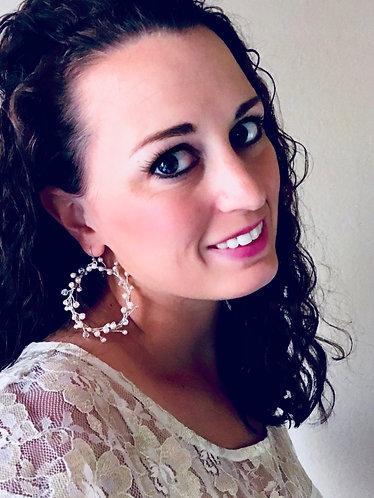 WILLOW: Pearl Beaded Hoop Earrings