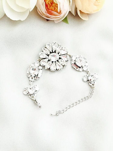 BRIELLE (bracelet): Swarovski Rhinestone Wedding Bracelet