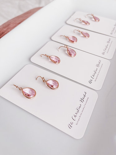 ARIEL: Rose Gold Pink Earrings