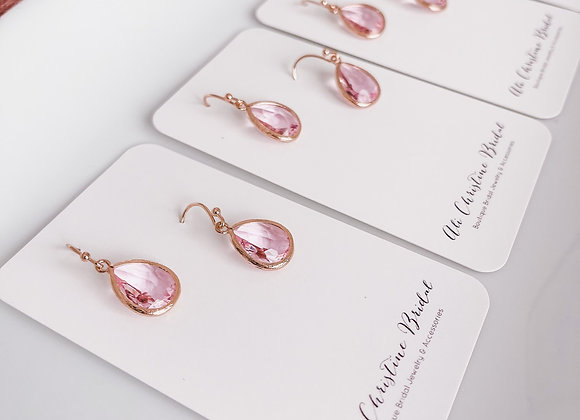 ARIEL: Rose Gold Pink Earrings