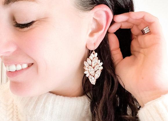 FLEUR: Victorian Lace inspired Swarovski Earrings