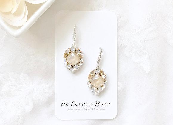 ANNE: Champagne Crystal Earrings
