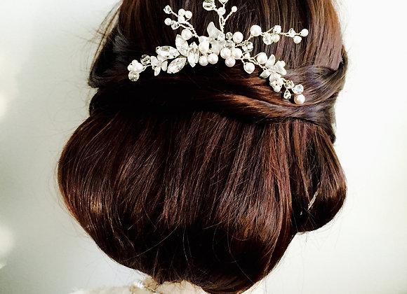 GIANNA: Silver Rhinestone Bridal Hair Pin