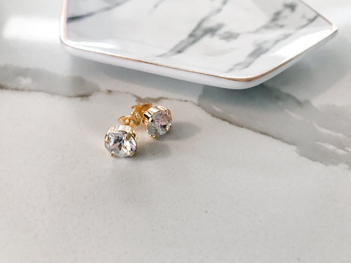CRYSTAL STUDS (gold or silver)