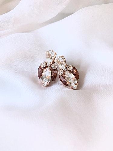 MARGOT: Rose Gold Wine Earrings