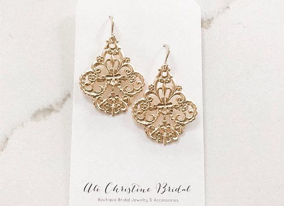 GOLDEN FILIGREE Statement Earrings