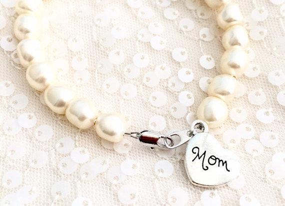 Mom Bracelet 1 Nugget Swarovski Pearl Mom Gift Bracelet