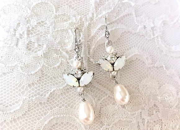 ARLETTE: Opal Bridal Earrings