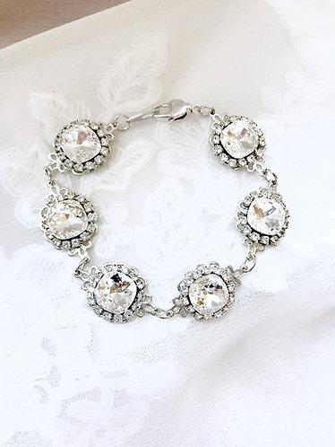KATIA: Swarovski Square Stone Bracelet