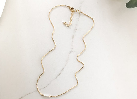 DAINTY PEARL STACK 16in Necklace + 1.5 in extender