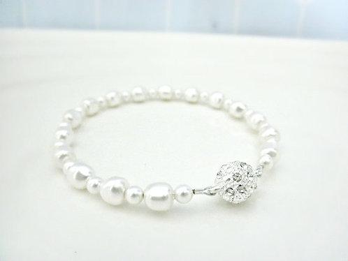 Skinny Nugget Swarovski Pearl Bracelet