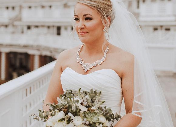 BELLE: Statement Rhinestone Wedding Collar Necklace