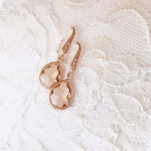 SAVANNAH: Rose Gold Peach Drops