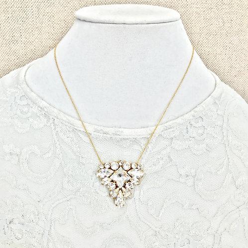 LILLIAN: Gold Crystal Rhinestone Pendant