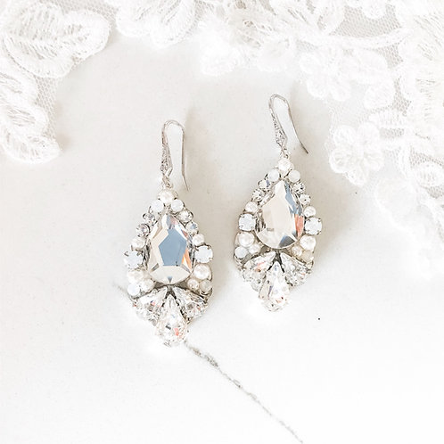 TRISTA: Statement Swarovski Earrings
