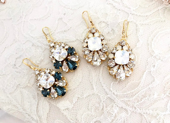 CERA: Swarovski Rhinestone Wedding Earrings